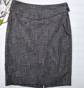 Limited Gray High Waisted Pencil Skirt